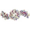 Crystal Motifs Fancy Swirl 10.5x4cm Red Aurora Borealis/gold